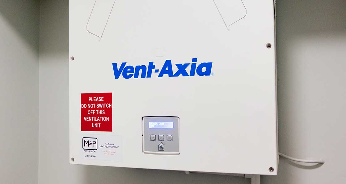 The apartments are ventilated via Vent Axia heat recovery ventilation systems - which include prominent signs warning occupants not to switch the units off .