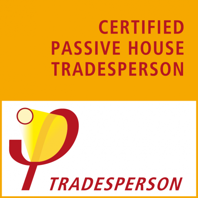 Certified passive house tradesperson