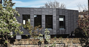 Compact solid-timber passive house on London infill site